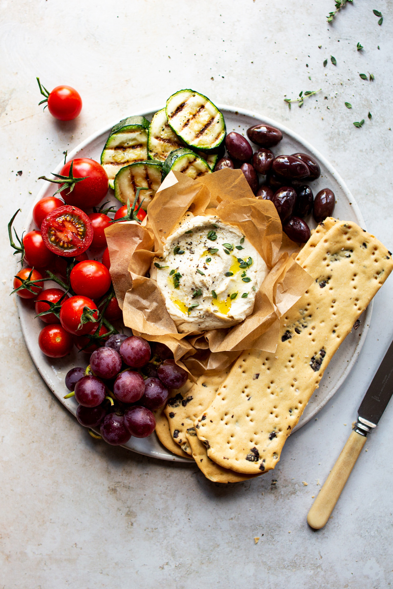 easy vegan ricotta cheese platter