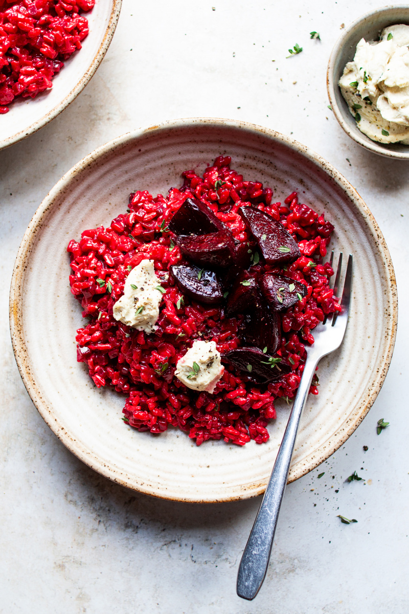 vegan beetroot risotto