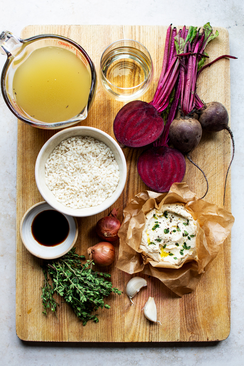 vegan beetroot risotto ingredients