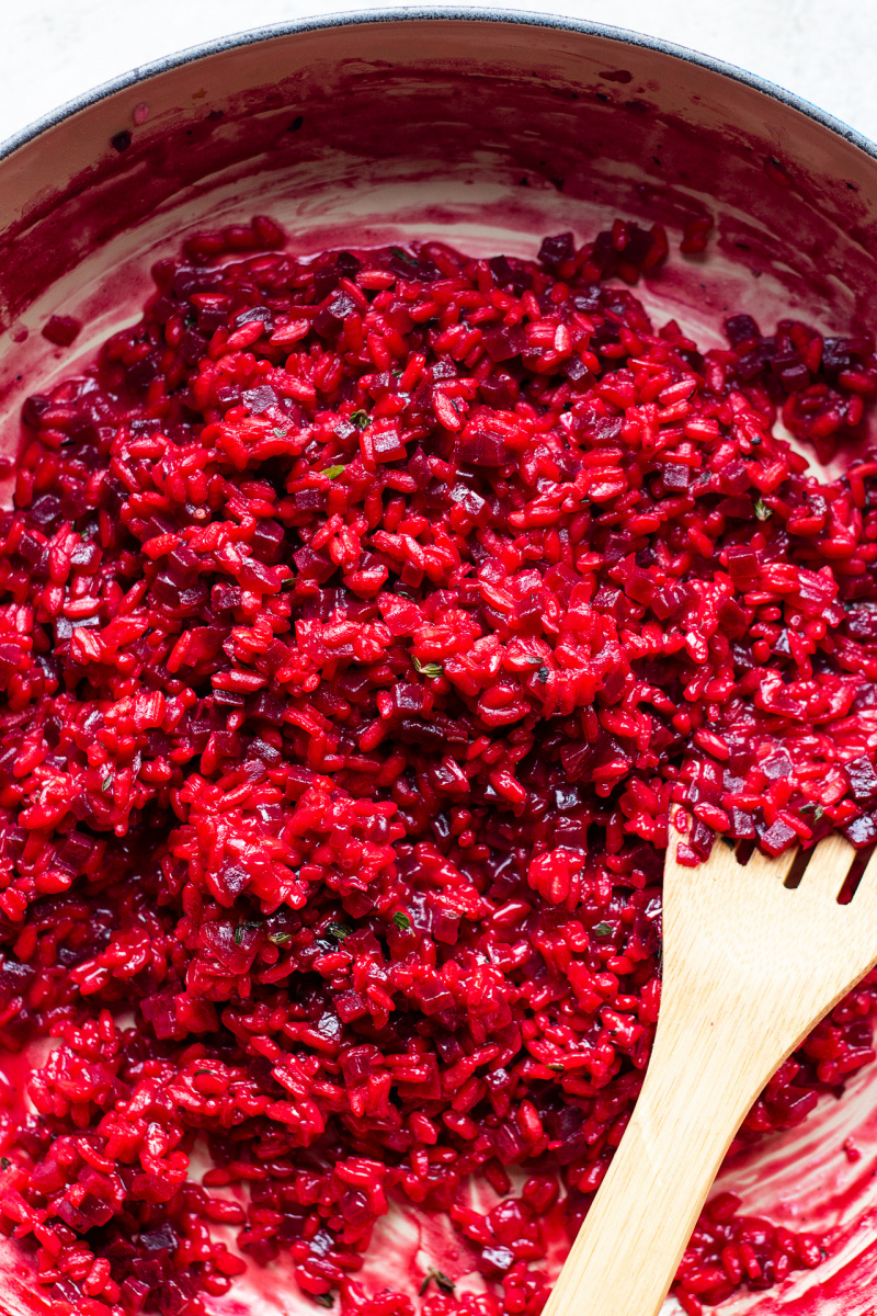 vegan beetroot risotto pan