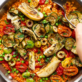 vegan paella macro