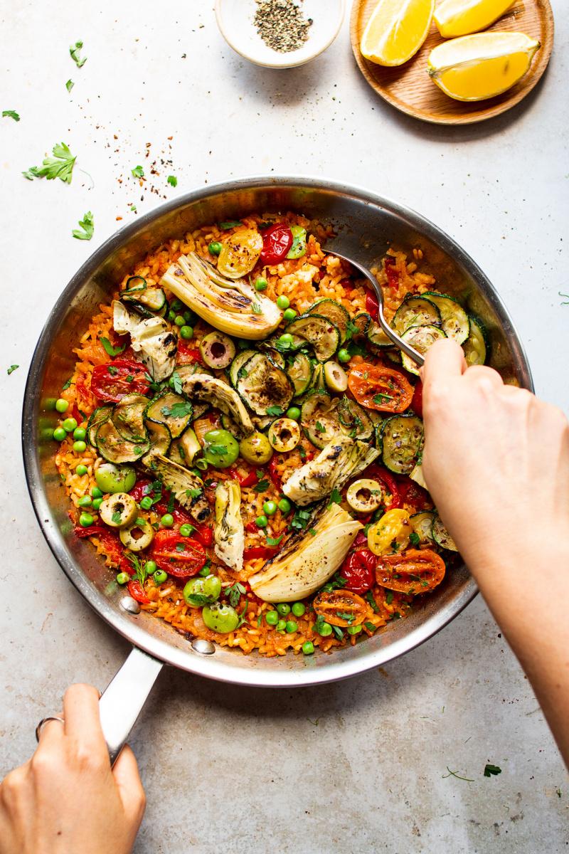 vegan paella pan