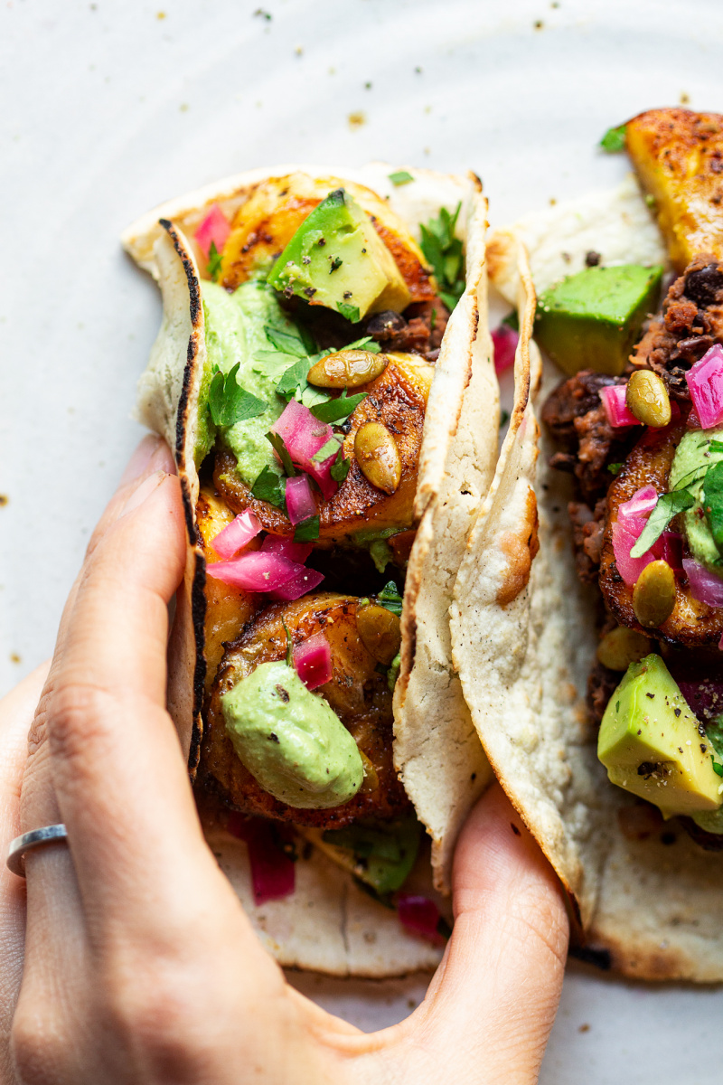 vegan tacos fried plantain