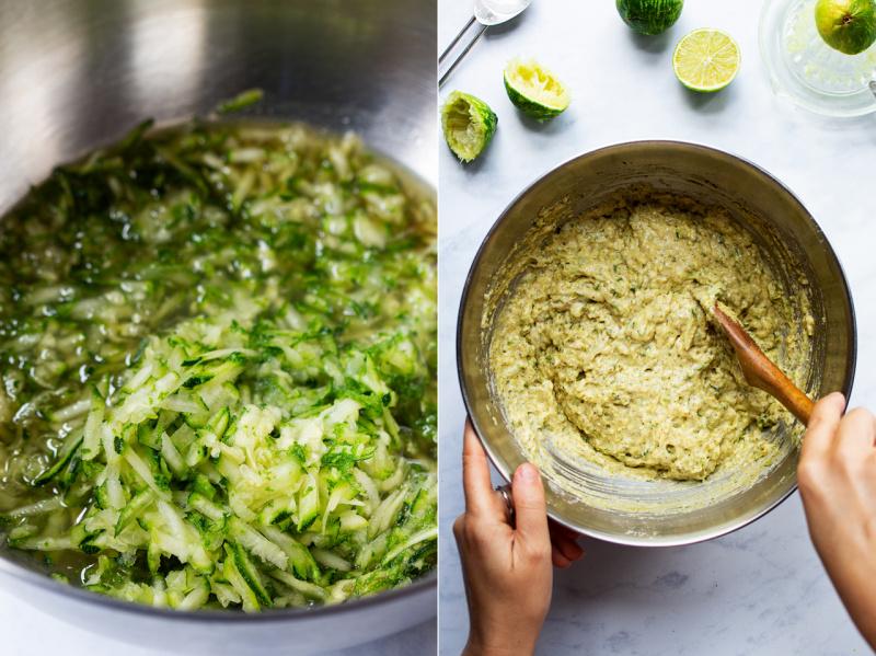 vegan zucchini bread batter