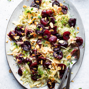 fennel roast cherry salad
