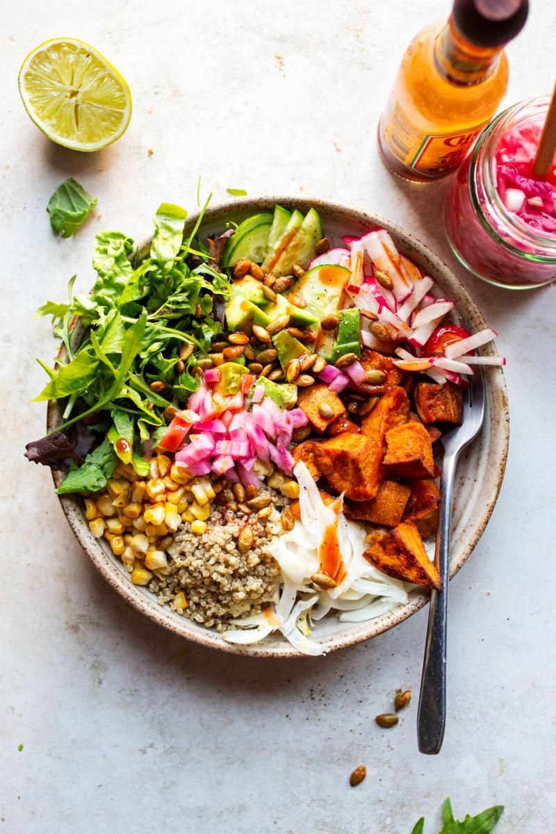 sweet potato bowl lunch