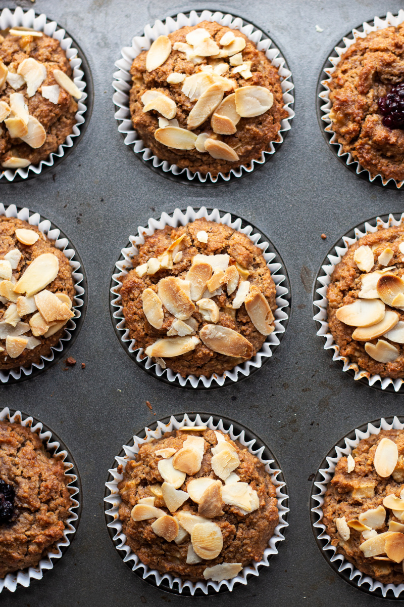 vegan apple muffins tray