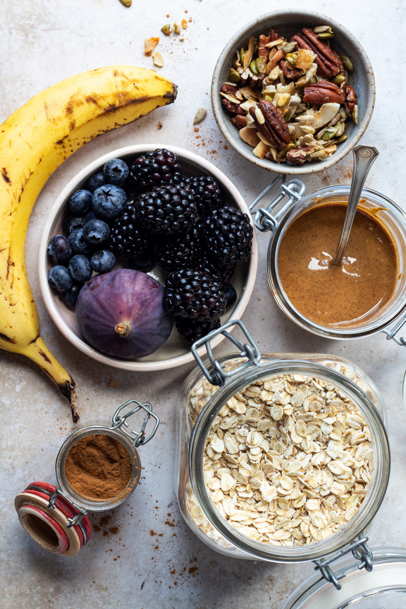 banana overnight oats ingredients