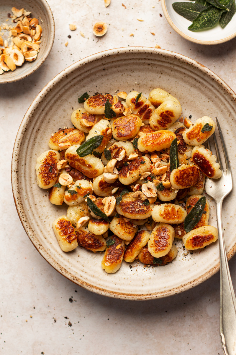 vegan gnocchi plate macro