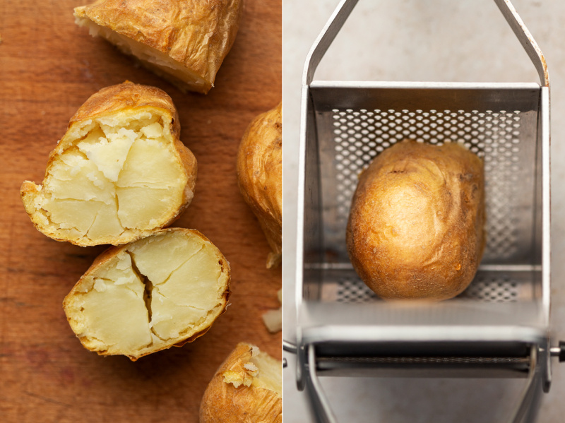 vegan gnocchi potato prep