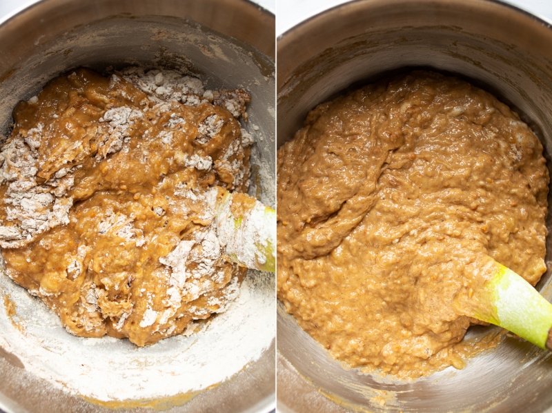 vegan peanut butter banana bread dry ingredients