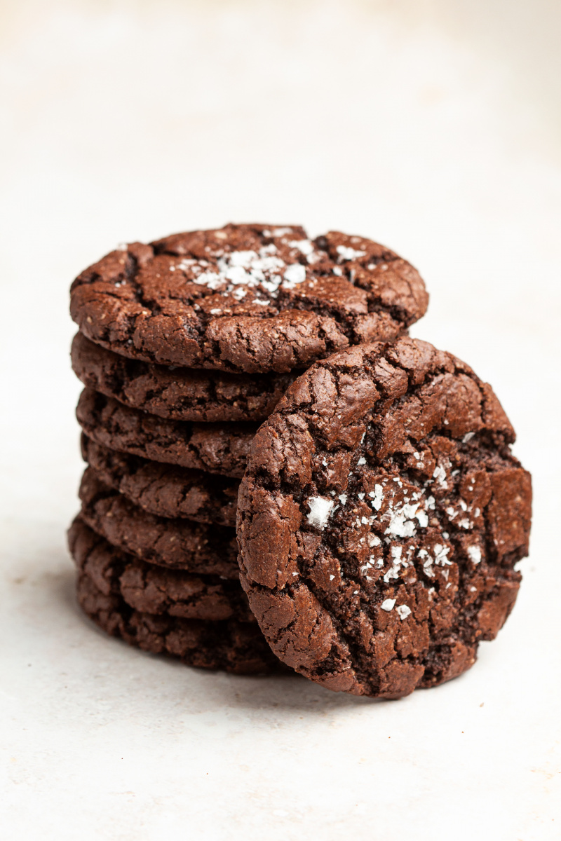 vegan chocolate cookies stack