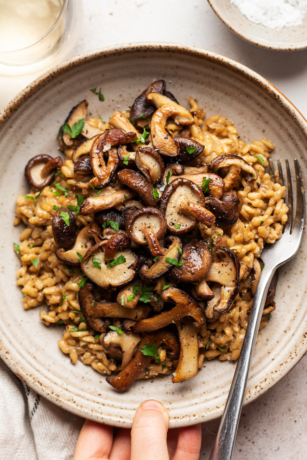 Vegan Mushroom Risotto Lazy Cat Kitchen