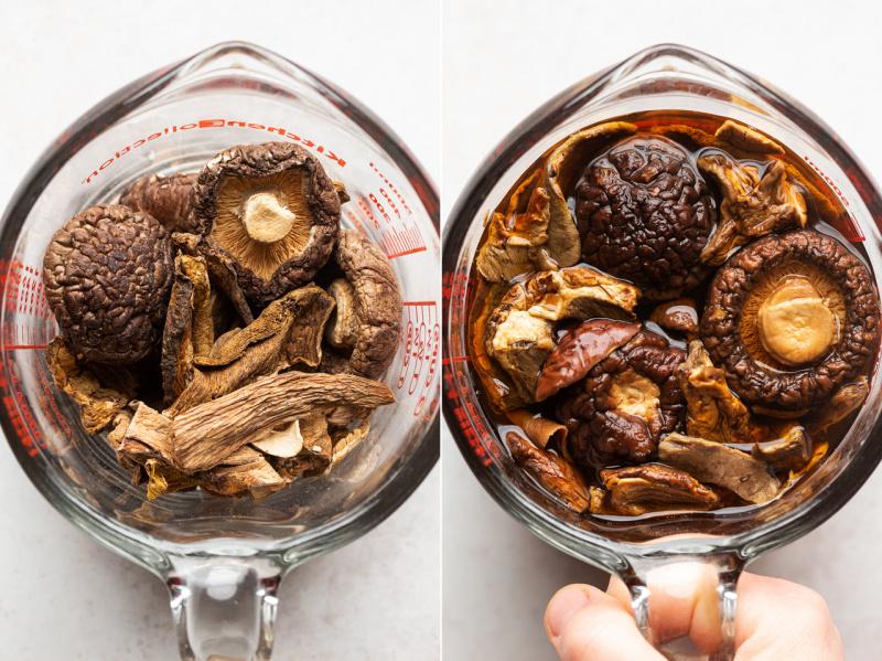 vegan mushroom risotto porcini
