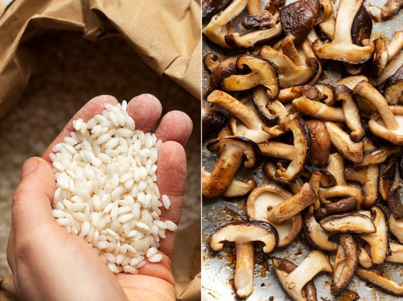 vegan mushroom risotto rice mushrooms