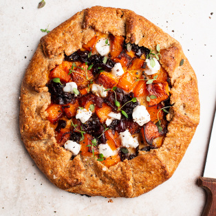 vegan pumpkin galette whole