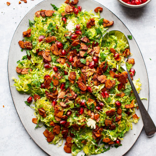 brussels sprout slaw platter