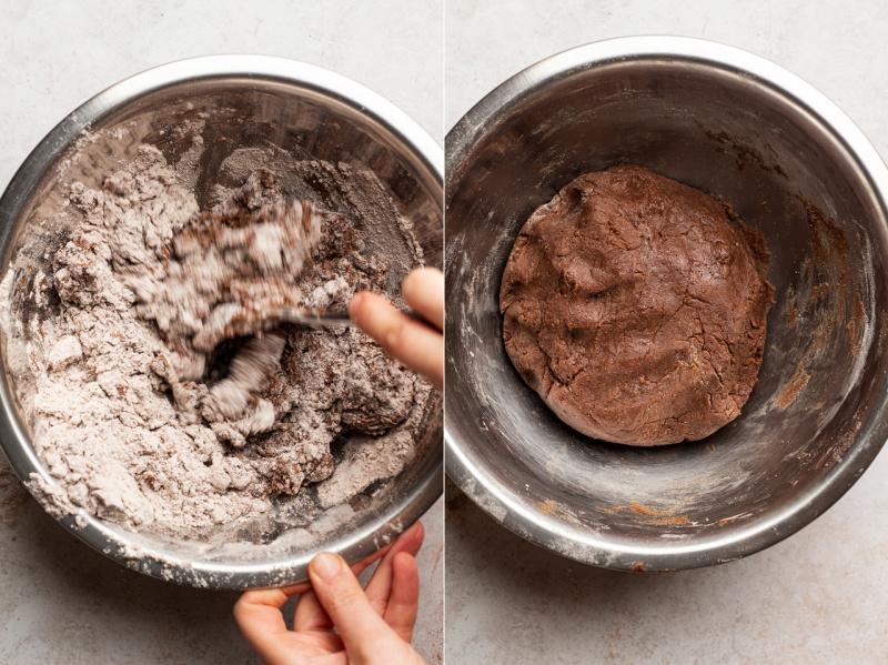 soft vegan gingerbread cookies dough