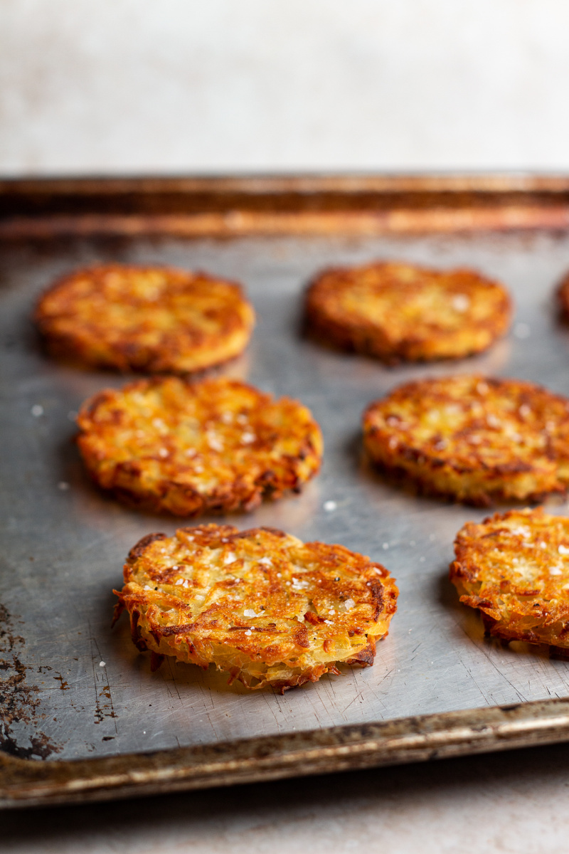 baked vegan hash browns side
