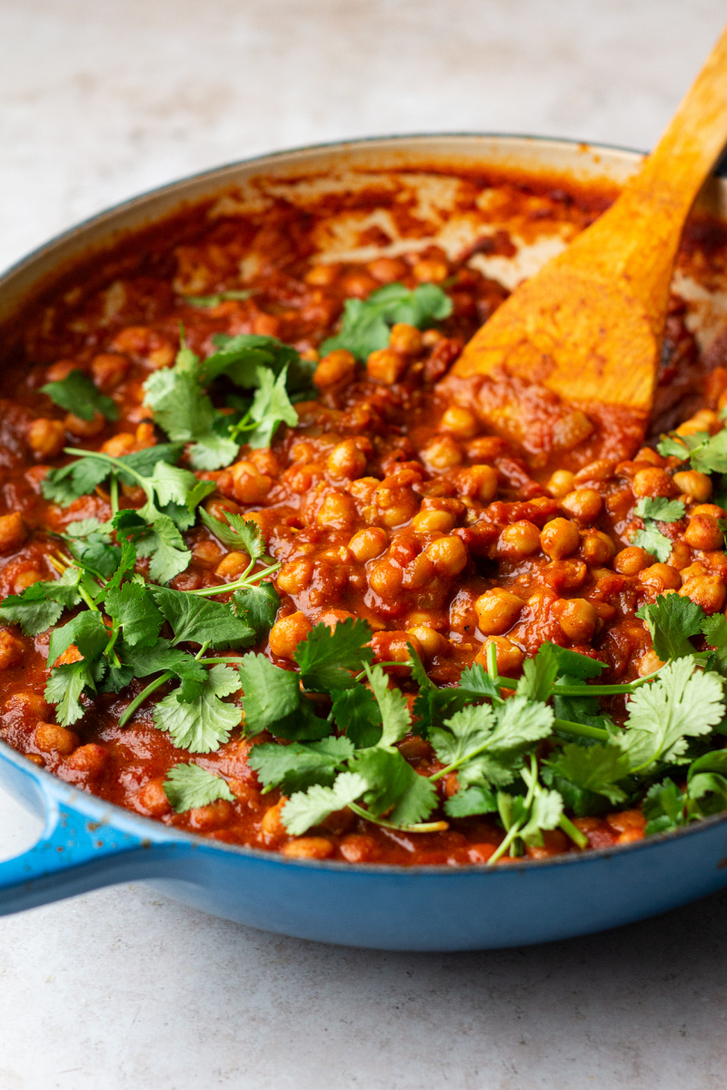 easy chana masala side