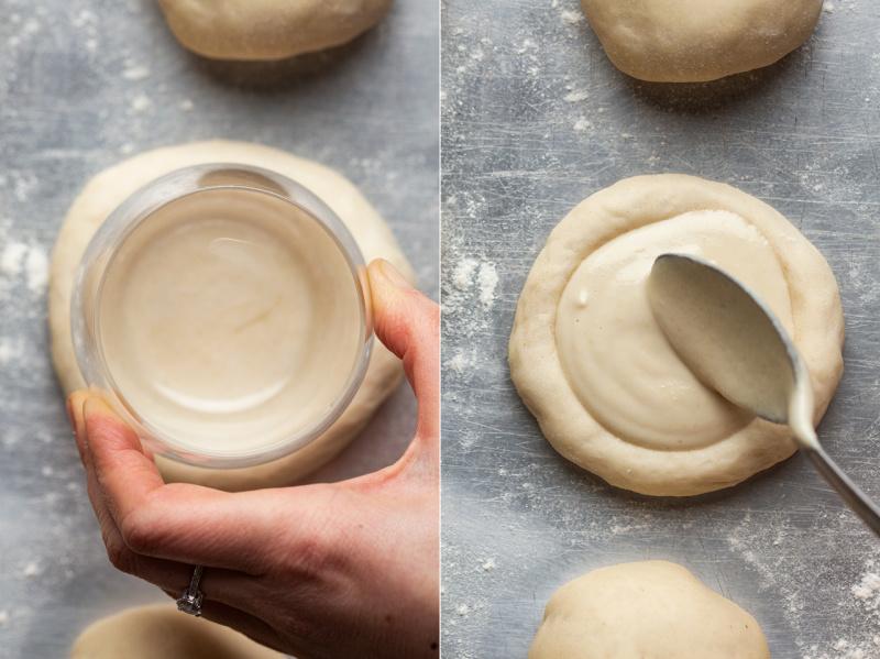 vegan polish sweet cheese rolls filling
