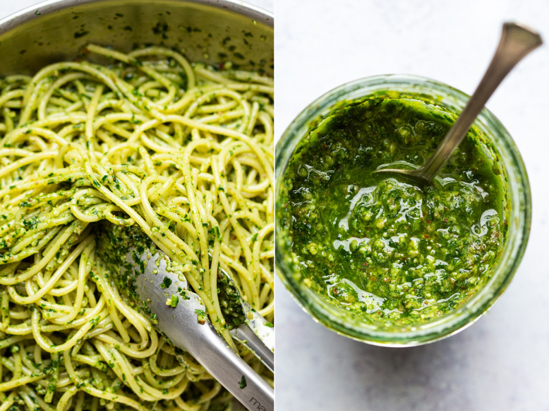 vegan wild garlic pesto jar