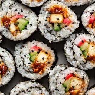 peanut tofu sushi macro