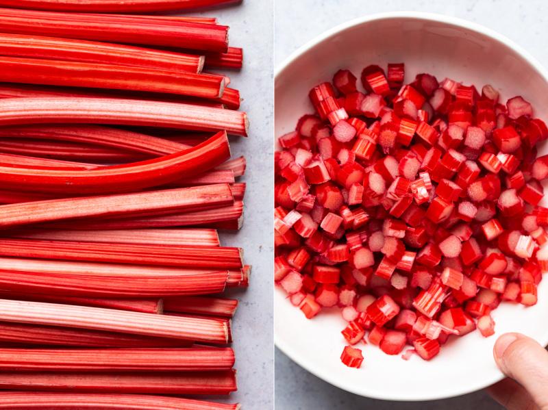 vegan rhubarb ginger buns rhubarb