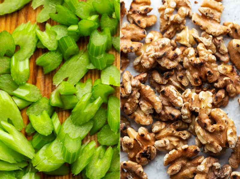 easy vegan bbq salad celery walnuts