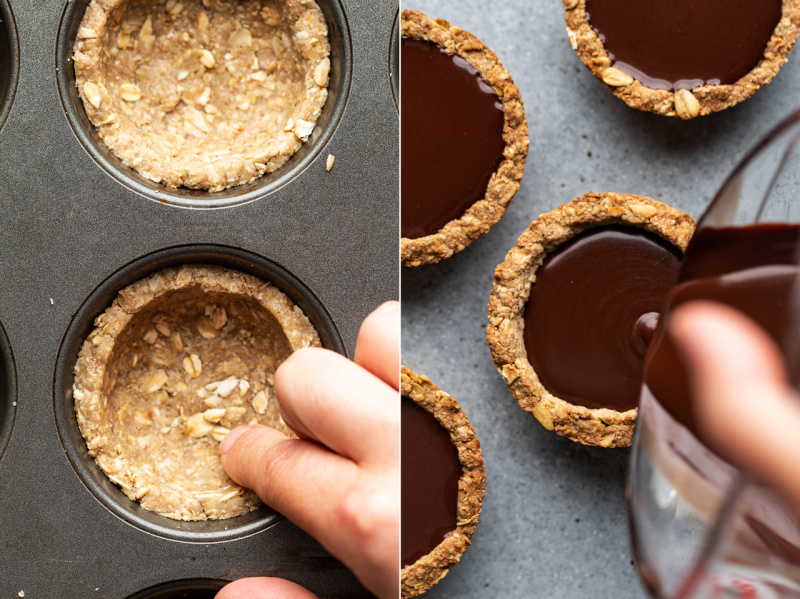 chocolate cookie cups amaretto making