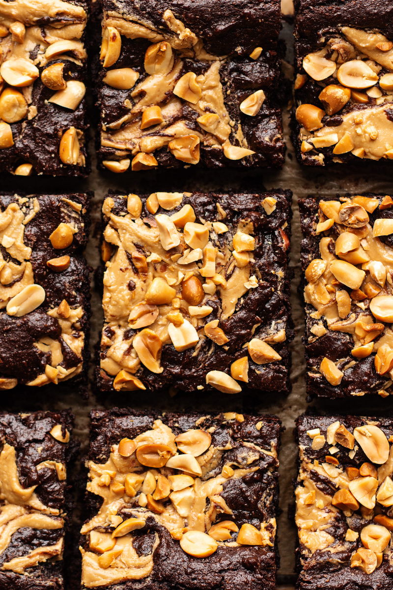 vegan peanut butter brownies macro