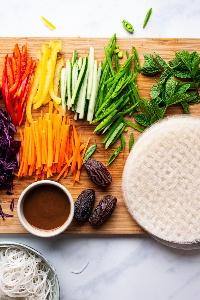 pad thai summer rolls ingredients