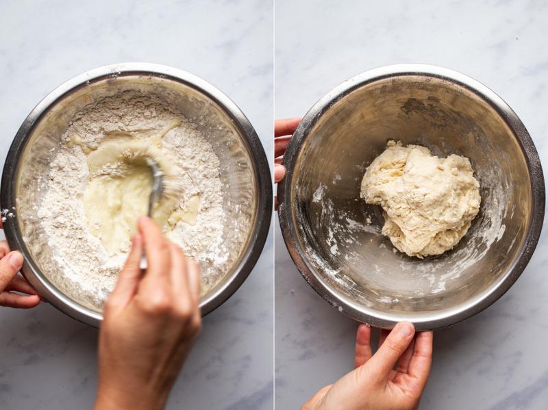 vegan spinach feta gozleme dough