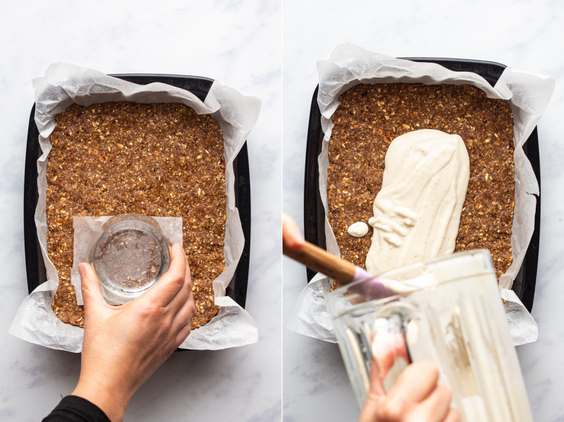 vegan strawberry cheesecake slice base