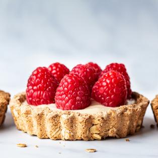 vegan white chocolate ganache tarts