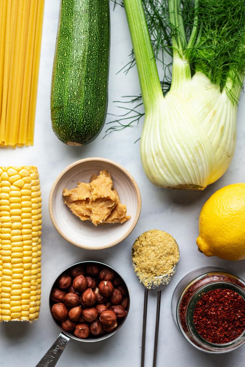 fennel pasta miso sauce ingredients