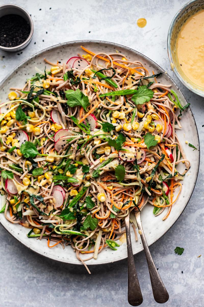 soba noodle salad mixed