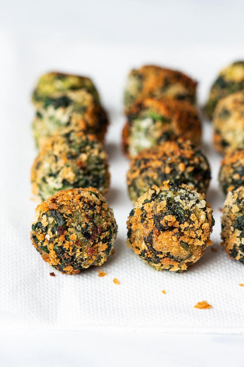 vegan spinach balls fried