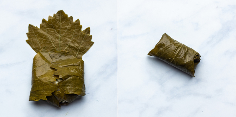 greek stuffed vine leaves rolling sq