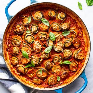 vegan zucchini involtini pan