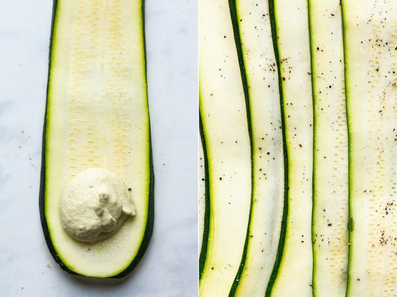 vegan zucchini involtini zucchini slices