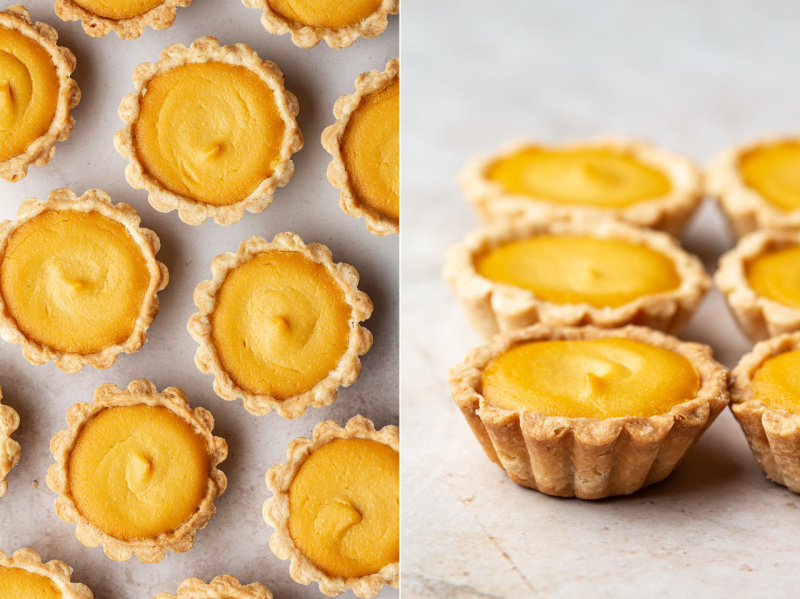 vegan custard tarts