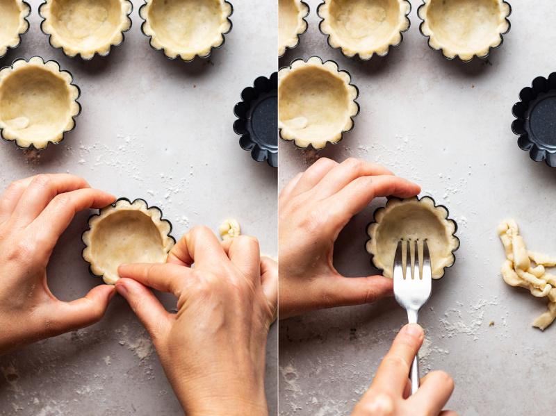 vegan custard tarts cases