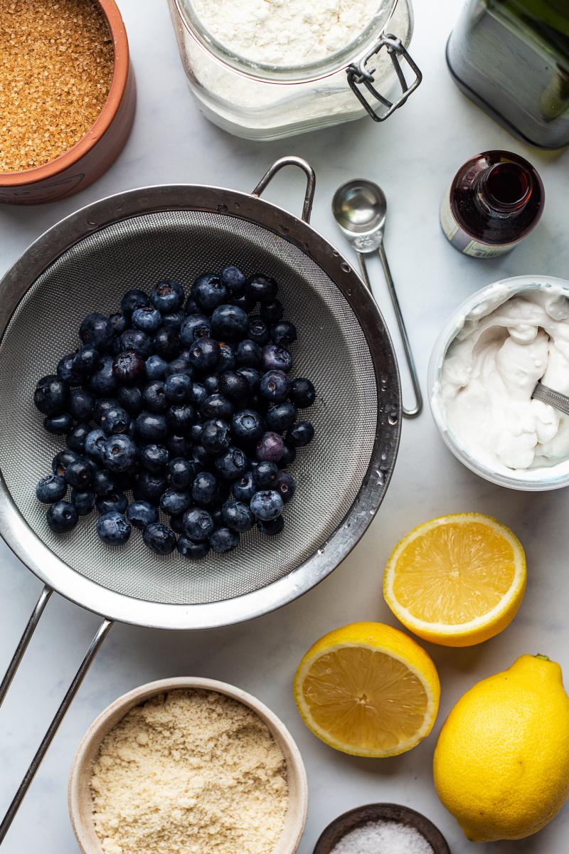vegan lemon blueberry loaf ingredients
