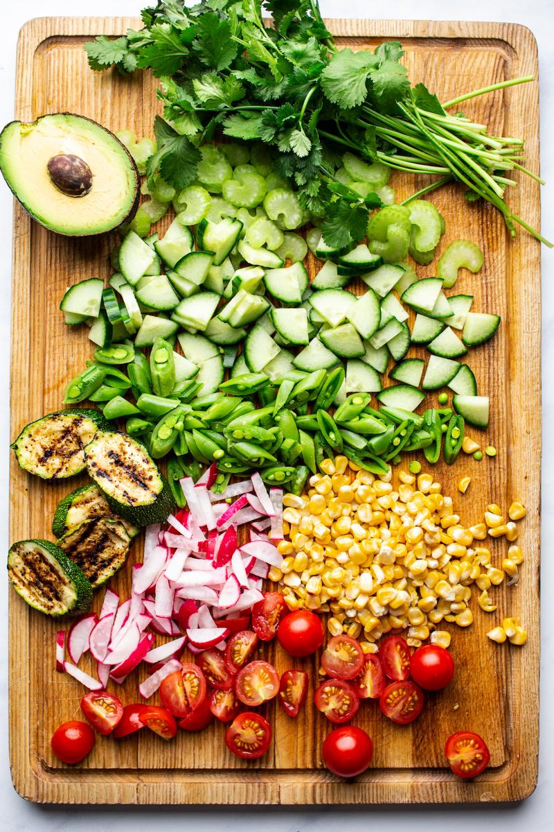 vegan summer salad produce
