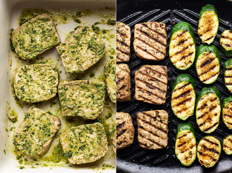 basil tofu steaks