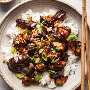 gochujang eggplant plate