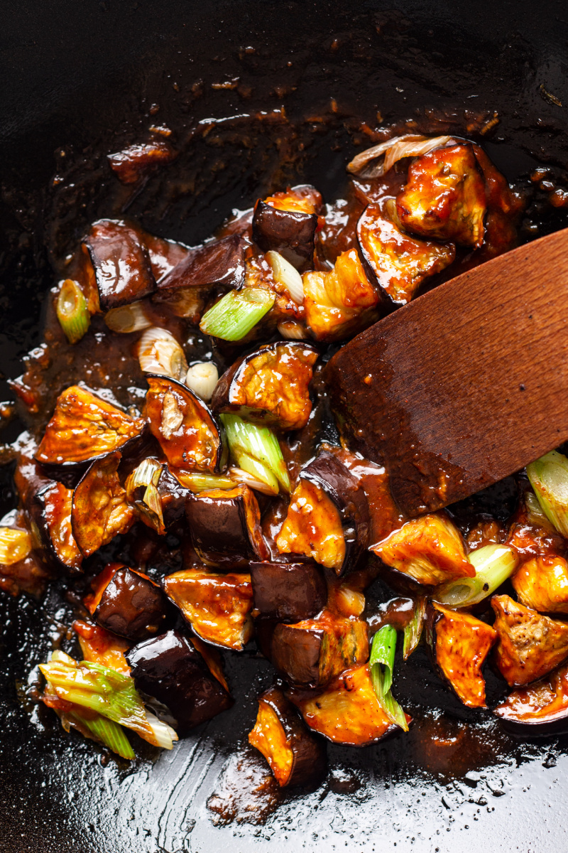 gochujang eggplant wok