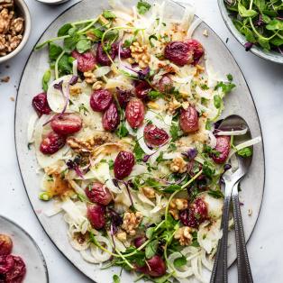 roasted grape fennel salad platter