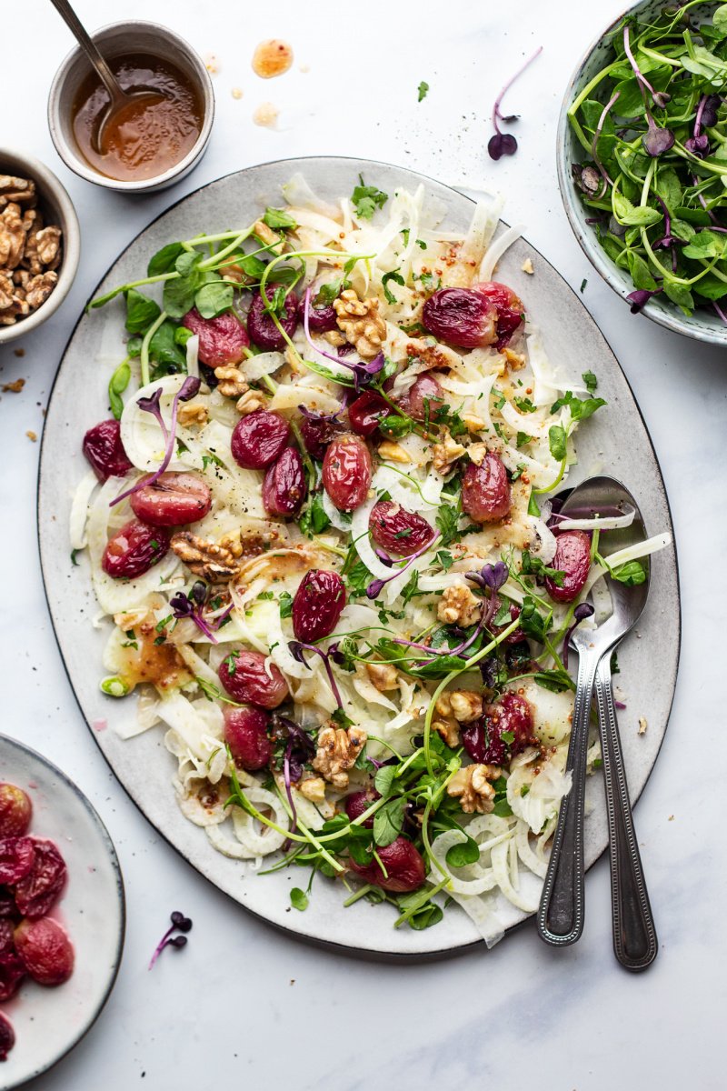roasted grape fennel salad platter